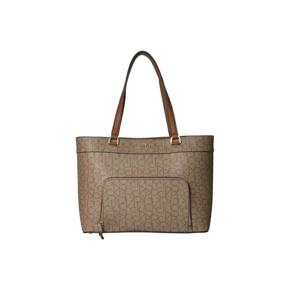 カルバンクライン Calvin Klein レディース トートバッグ バッグ【louise signature tote】Textured/Khaki/Brown