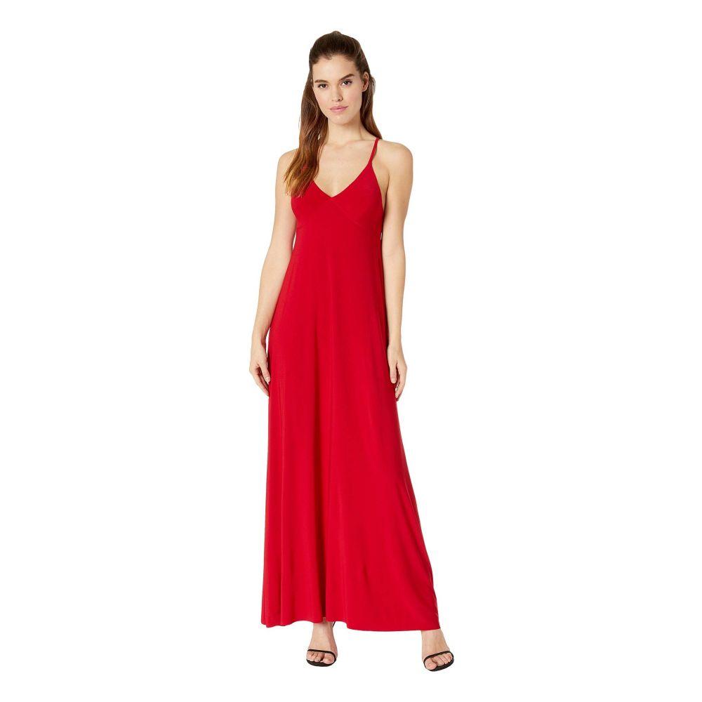 ノーマ カマリ KAMALIKULTURE by Norma Kamali レディース ワンピース スリップドレス ワンピース・ドレス【slip a-line long dress】Red
