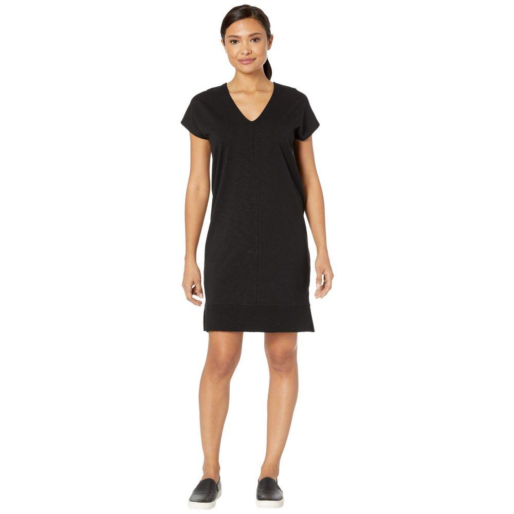 リラピー Lilla P レディース ワンピース ワンピース・ドレス【rib trim flame modal dress】Black