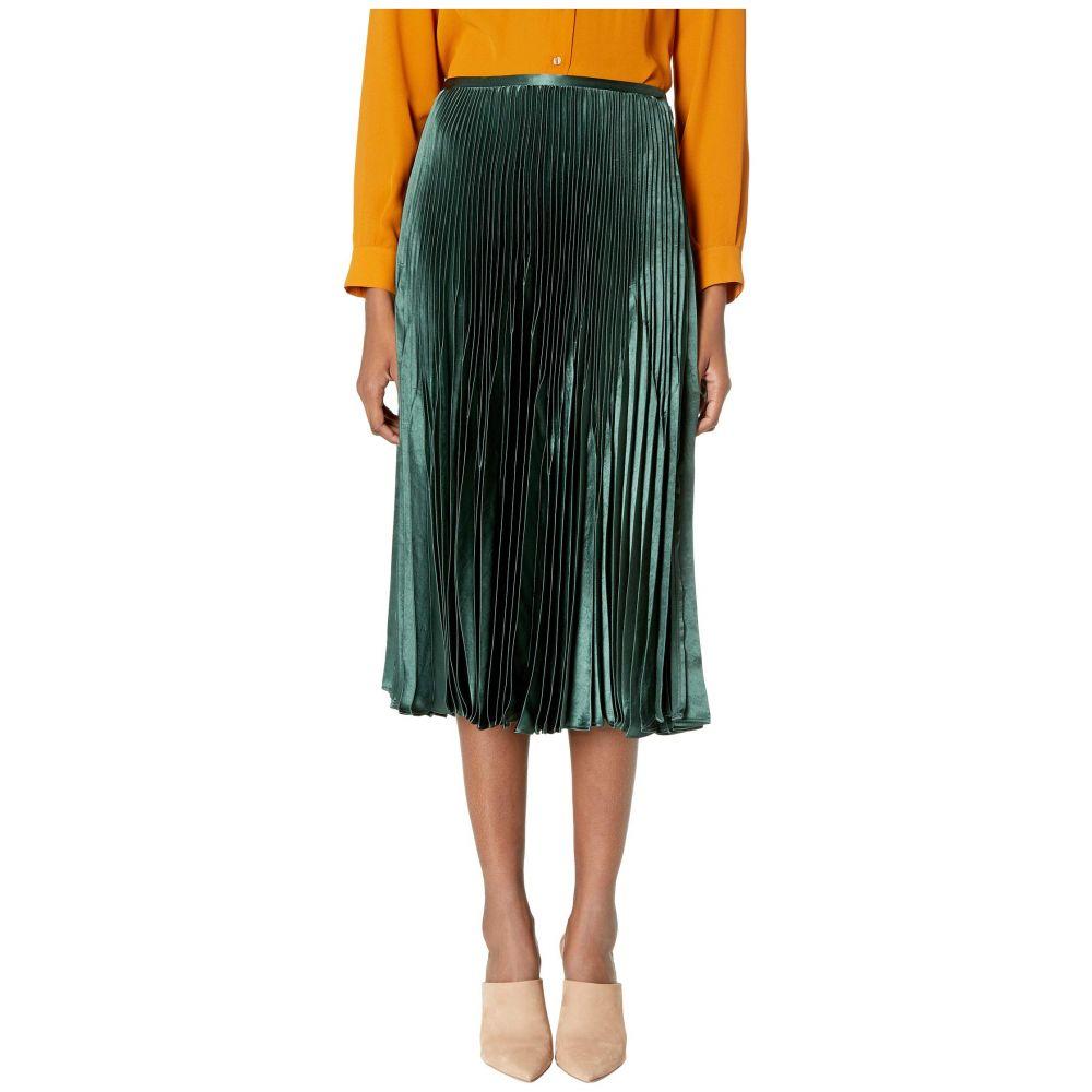 ヴィンス Vince レディース スカート 【chevron pleated skirt】Forest Green
