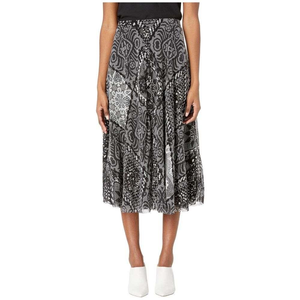ファジー FUZZI レディース スカート 【crochet patch tulle print button ankle skirt】Nero