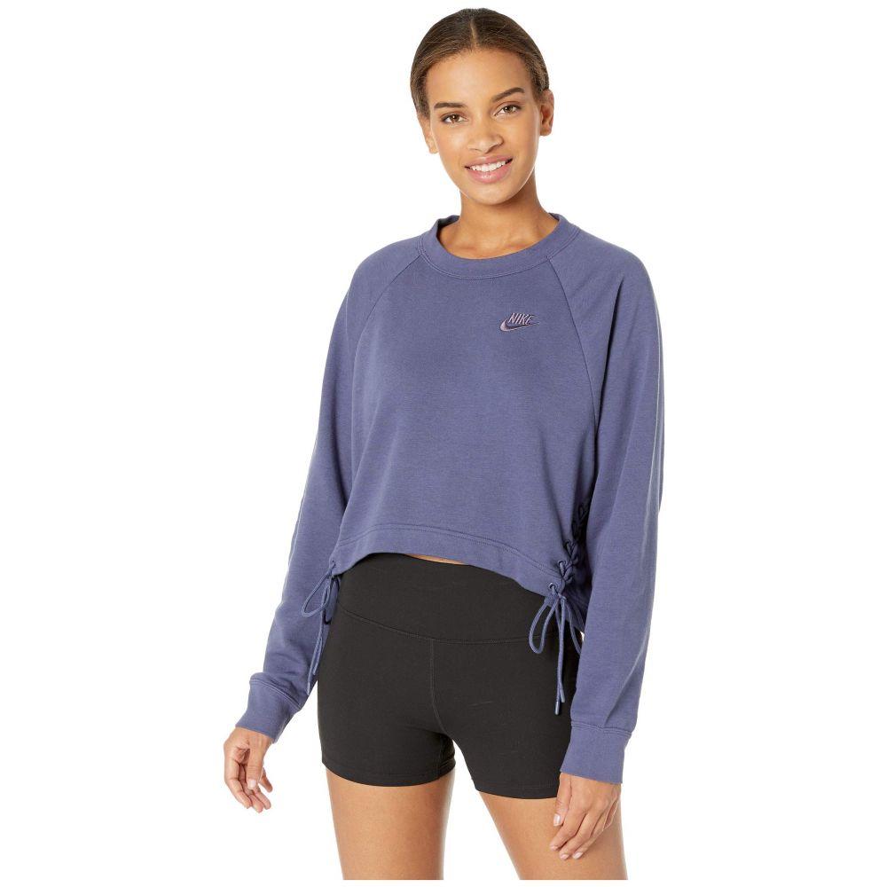 ナイキ Nike レディース スウェット・トレーナー トップス【NSW Essential Crew Fleece Tie】Sanded Purple/White