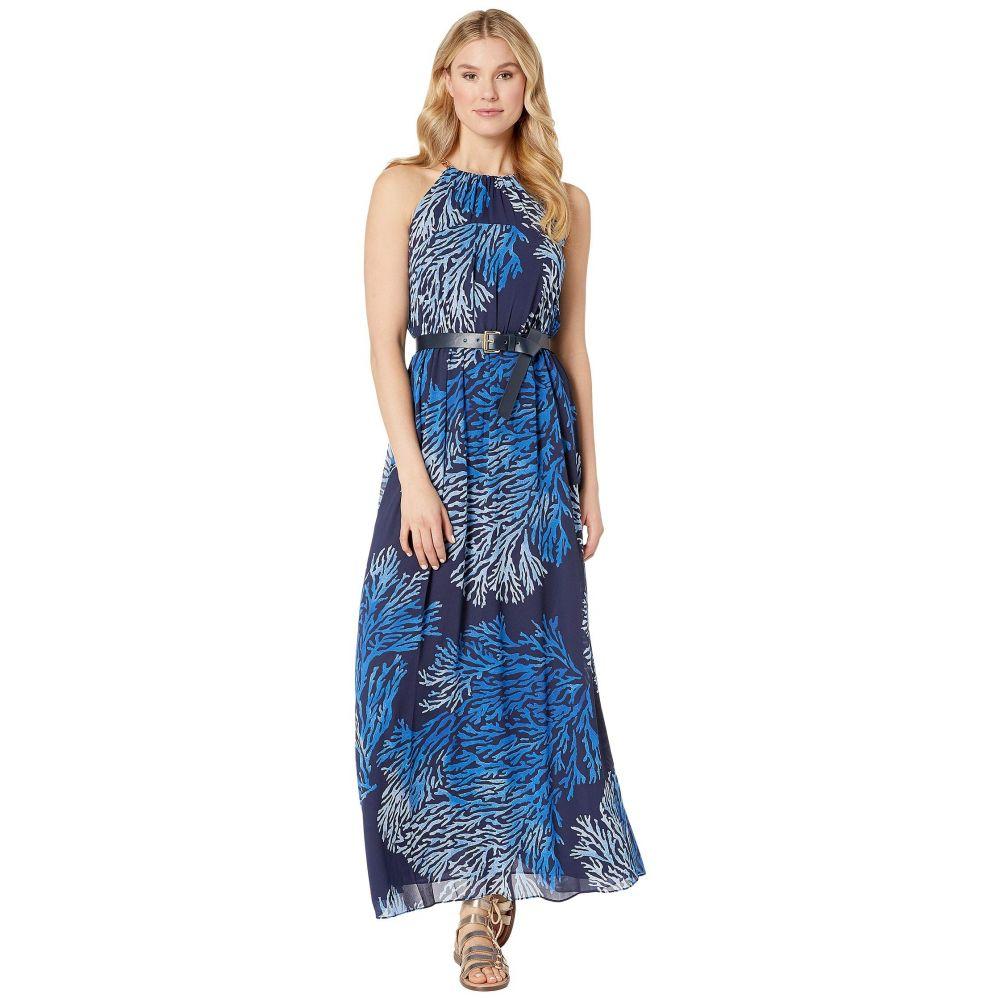 マイケル コース MICHAEL Michael Kors レディース ワンピース ワンピース・ドレス【Engineered Tahitian Reef Dress】True Navy/Grecian Blue