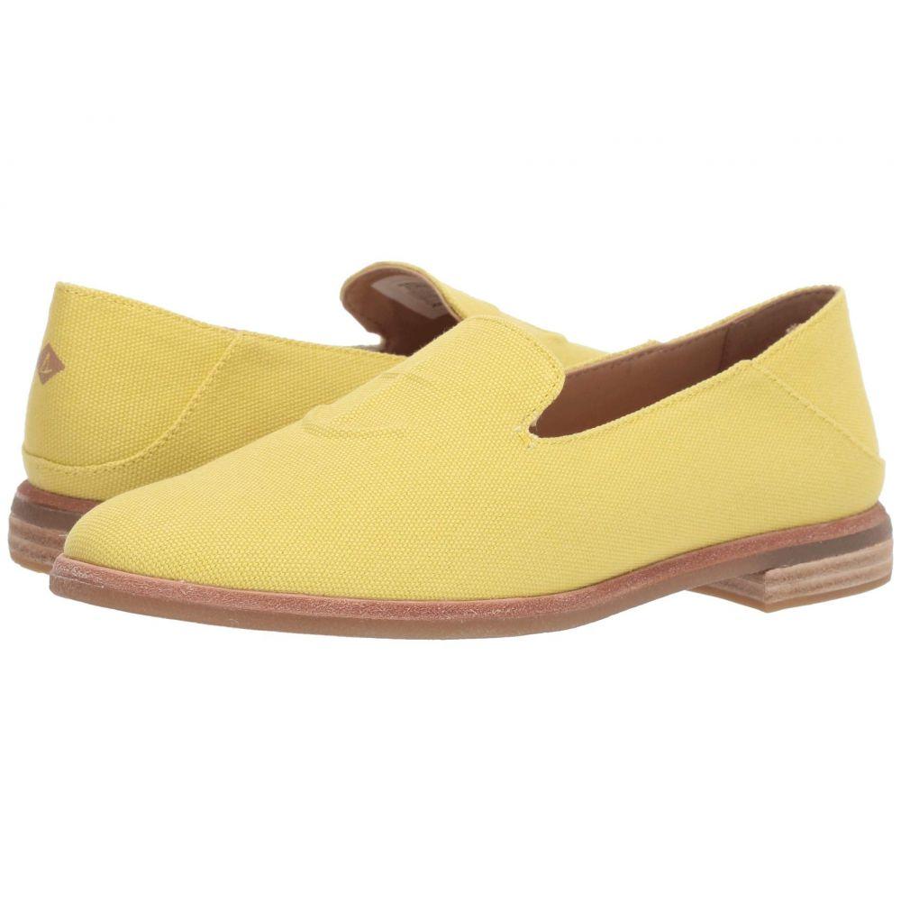 スペリー Sperry レディース ローファー・オックスフォード シューズ・靴【Seaport Levy Canvas】Yellow