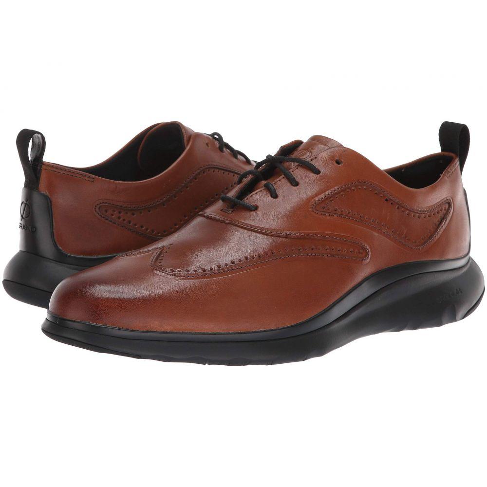 コールハーン Cole Haan メンズ スニーカー ウイングチップ シューズ・靴【3.Zerogrand Wingtip Oxford】British Tan Leather/Dark Roast/Black