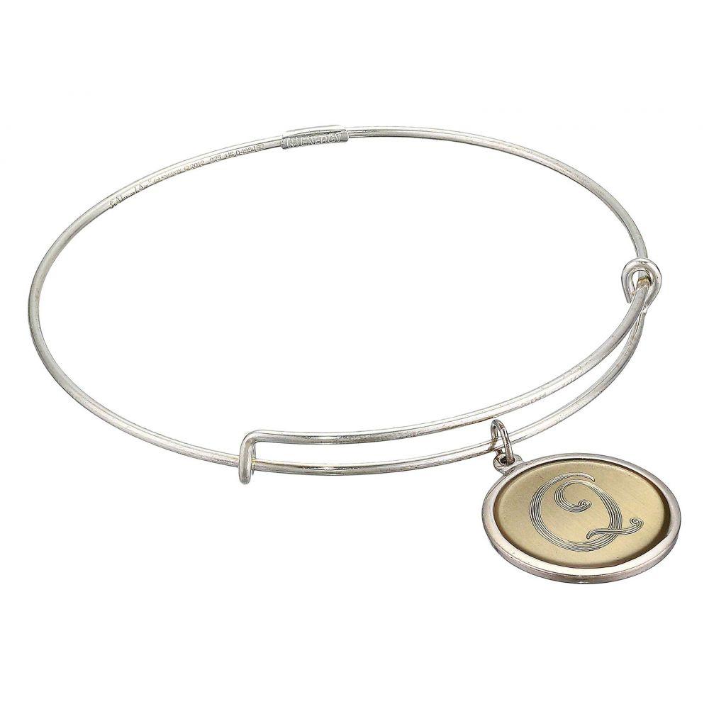アレックス アンド アニ Alex and Ani レディース ブレスレット ジュエリー・アクセサリー【Argentium Silver with Initial Q Charm Bracelet】Sterling Silver