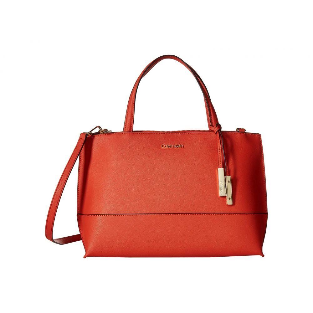 カルバンクライン Calvin Klein レディース ハンドバッグ サッチェルバッグ バッグ【Saffiano Leather Satchel】Sunset