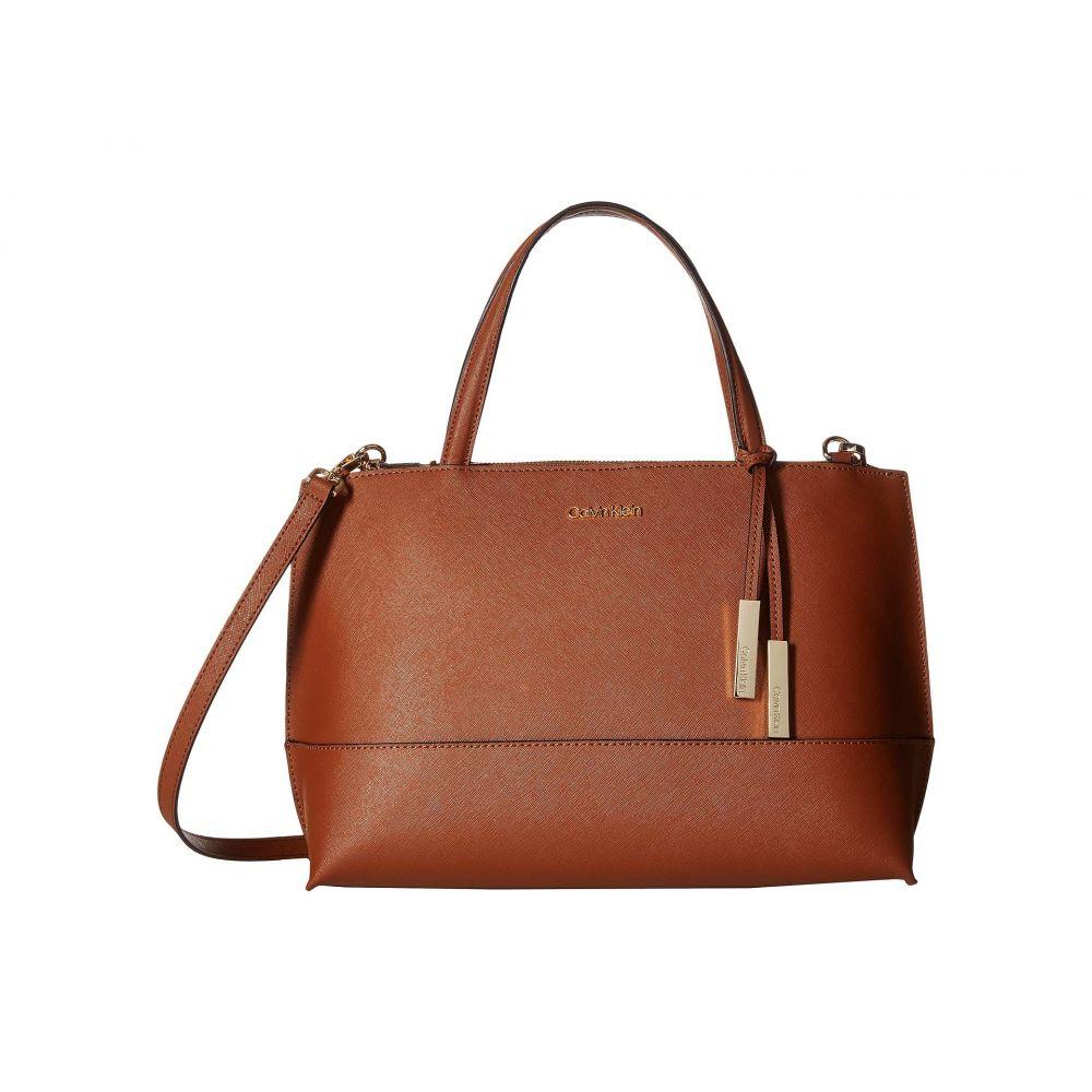 カルバンクライン Calvin Klein レディース ハンドバッグ サッチェルバッグ バッグ【Saffiano Leather Satchel】Luggage
