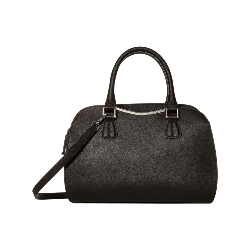 カルバンクライン Calvin Klein レディース ハンドバッグ サッチェルバッグ バッグ【On My Corner Saffiano Leather Satchel】Black/Silver