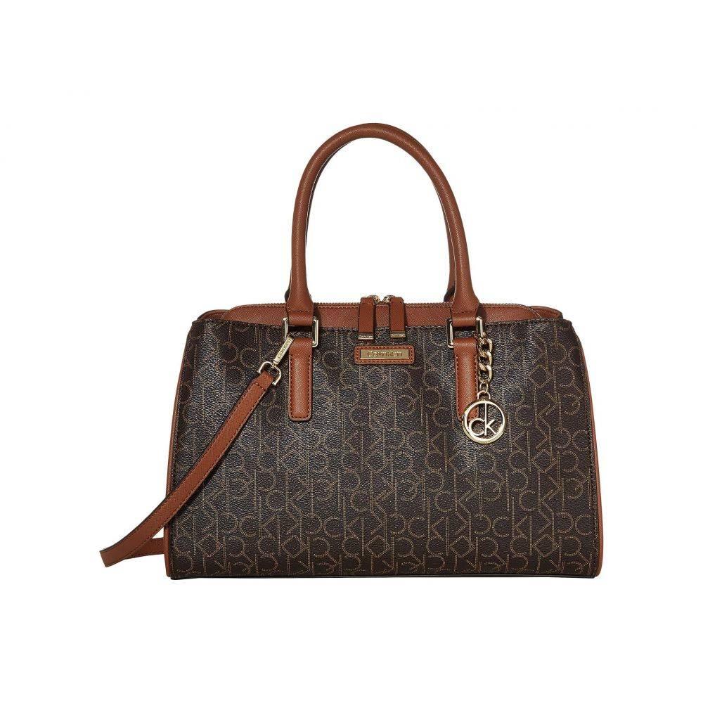 カルバンクライン Calvin Klein レディース ハンドバッグ サッチェルバッグ バッグ【Key Item Signature Satchel】Brown/Khaki/Luggage