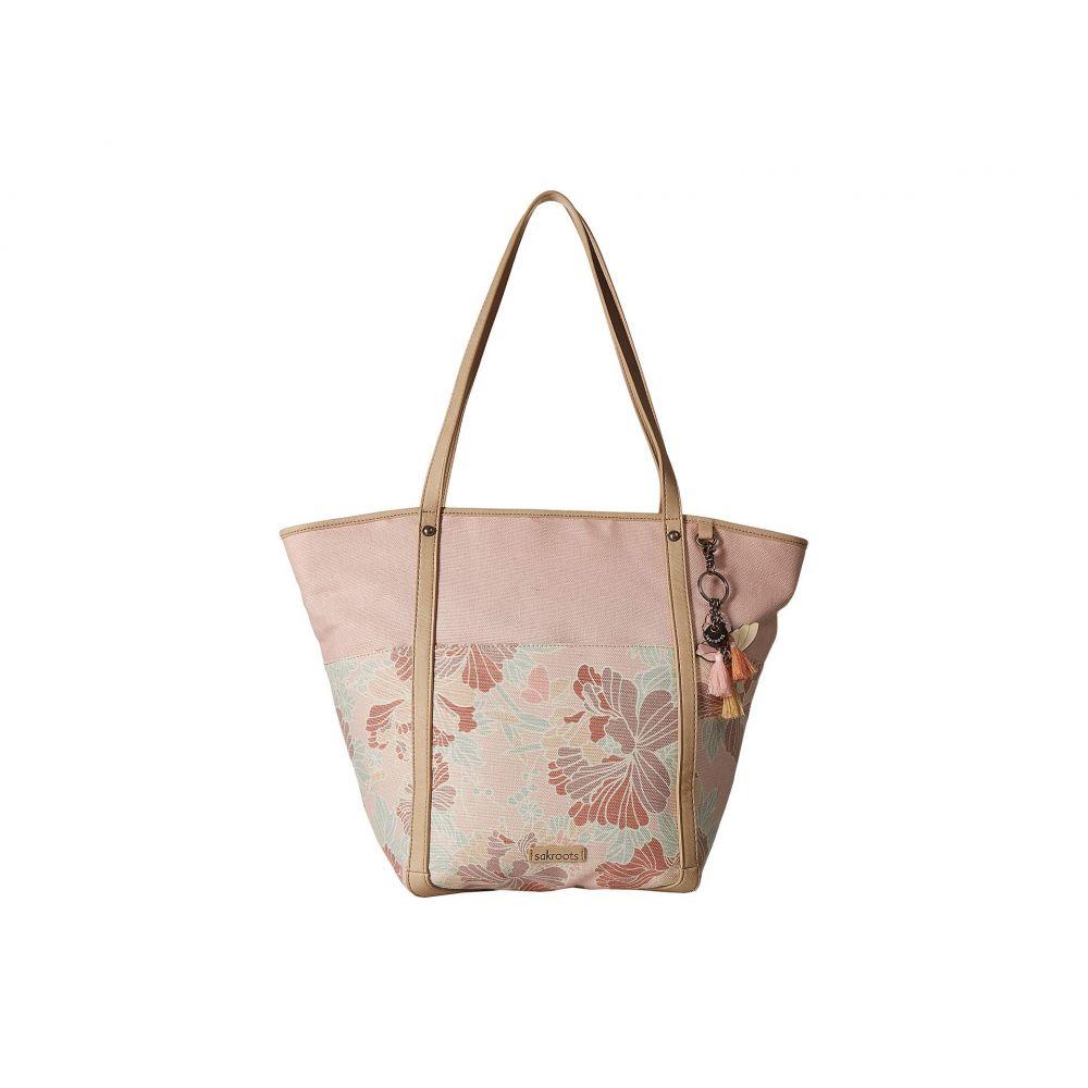 サックルーツ Sakroots レディース トートバッグ バッグ【Artist Circle Topanga Tote】Petal Pink Flower Blossom