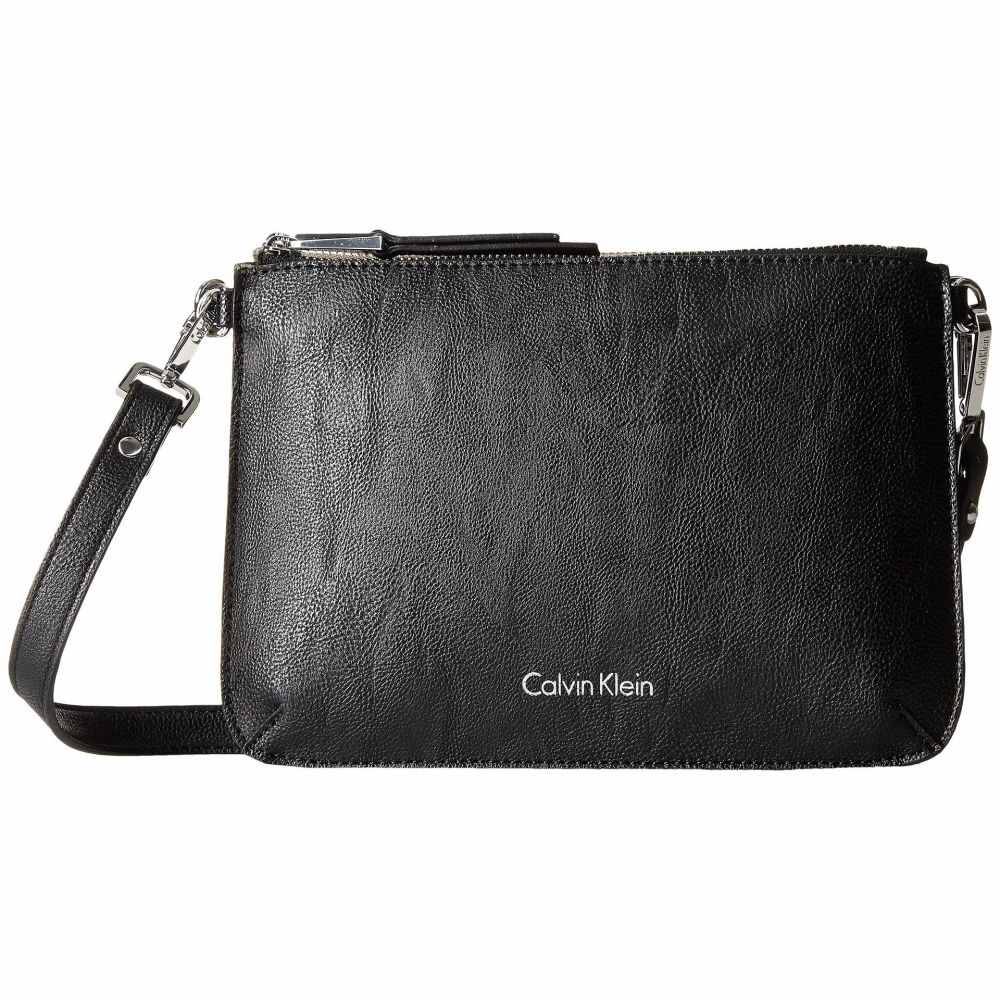 カルバンクライン Calvin Klein レディース ショルダーバッグ バッグ【Unlined Pebble PVC Crossbody】Black/Grey