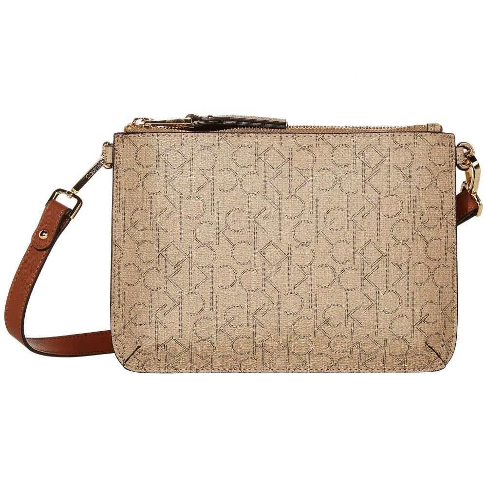 カルバンクライン Calvin Klein レディース ショルダーバッグ バッグ【Unlined Pebble PVC Crossbody】Natural/Luggage