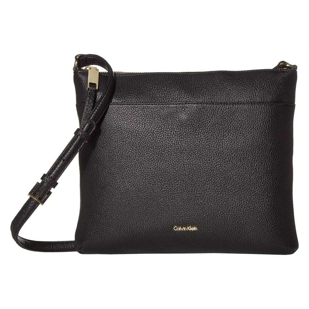 カルバンクライン Calvin Klein レディース ショルダーバッグ バッグ【Lily Key Item Pebble Leather Large Crossbody】Black/Gold