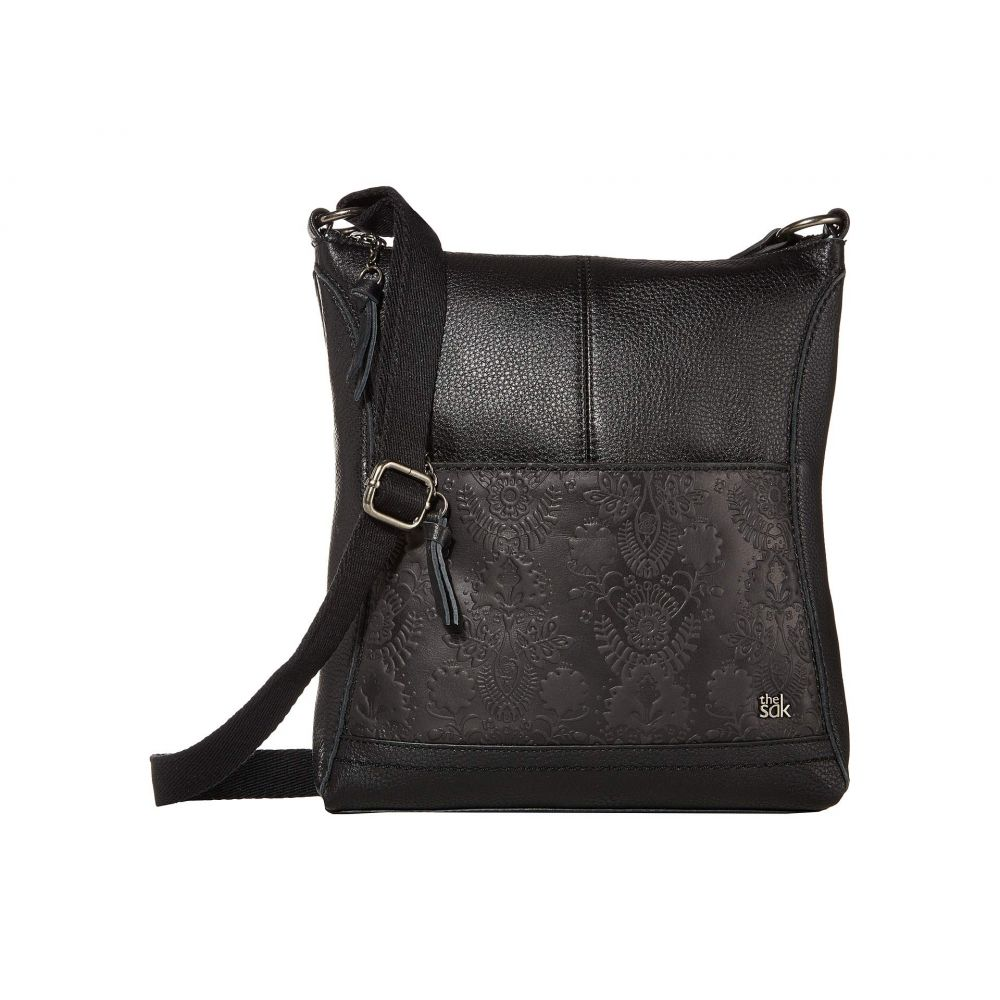 ザ サク The Sak レディース ショルダーバッグ バッグ【Lucia North/South Crossbody】Black Floral Embossed