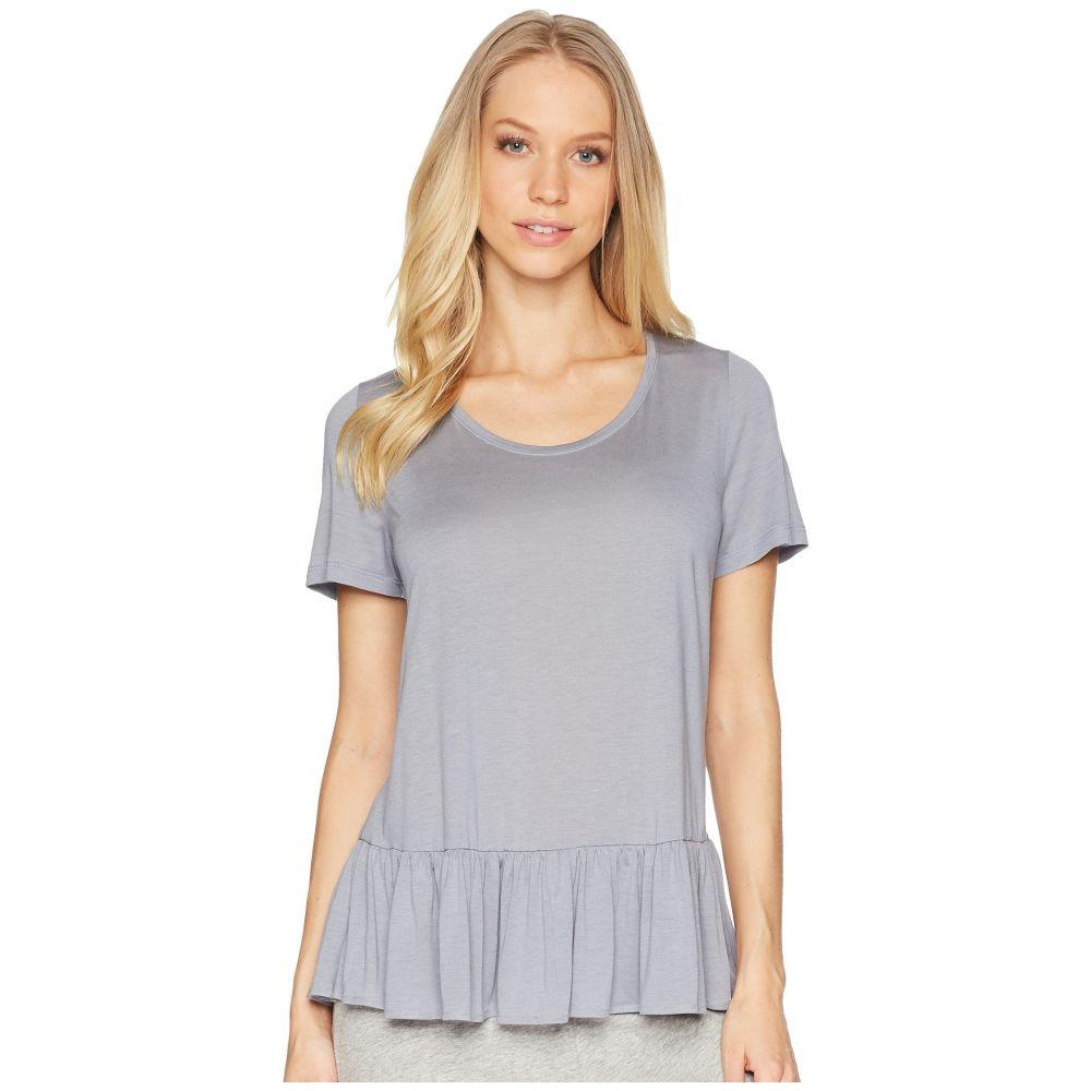 ハンロ Hanro レディース パジャマ・トップのみ インナー・下着【Malva Short Sleeve Shirt】Lilac Grey