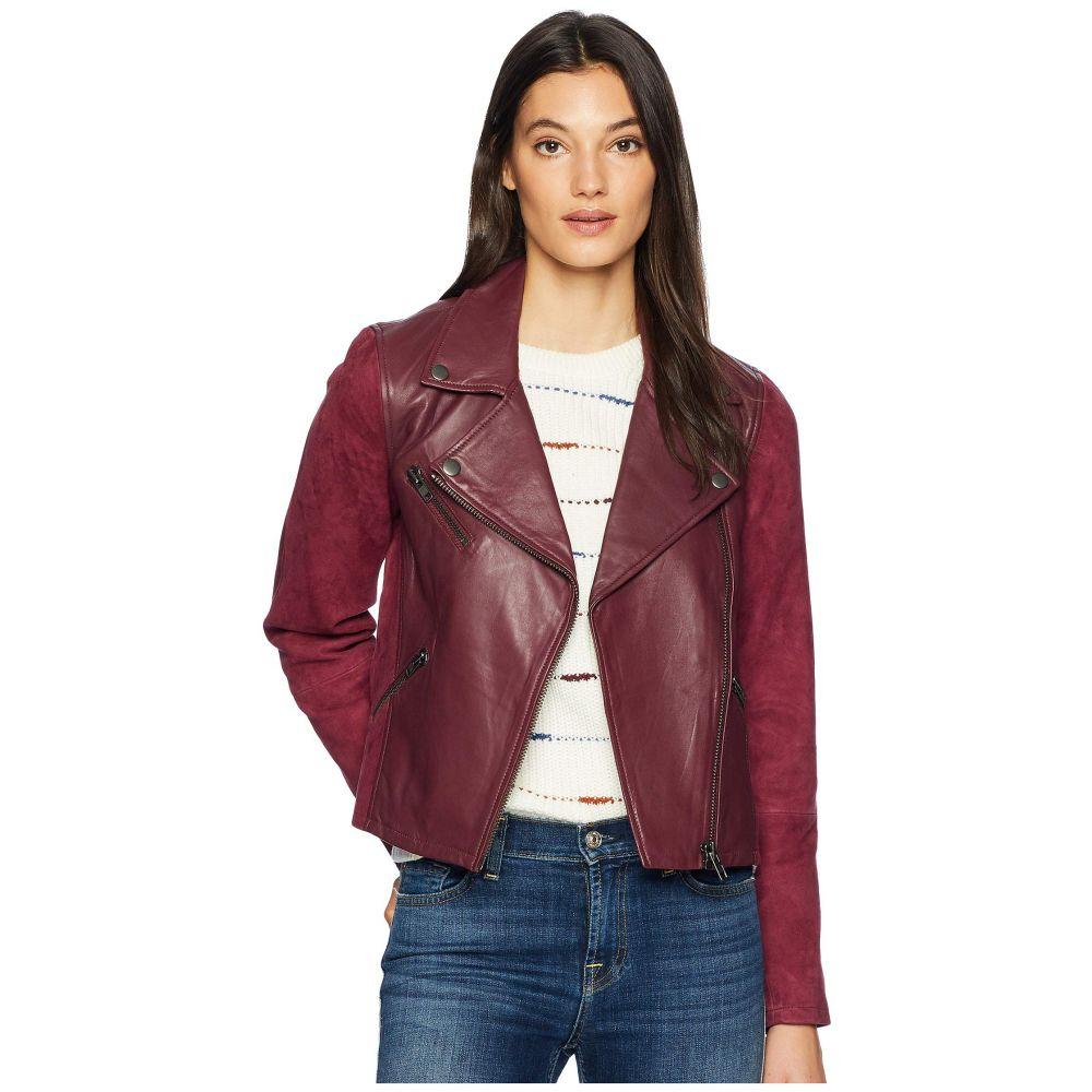 マイケルスターズ Michael Stars レディース レザージャケット モーターサイクルジャケット アウター【Leather Suede Mix Classic Moto Jacket】Pinot