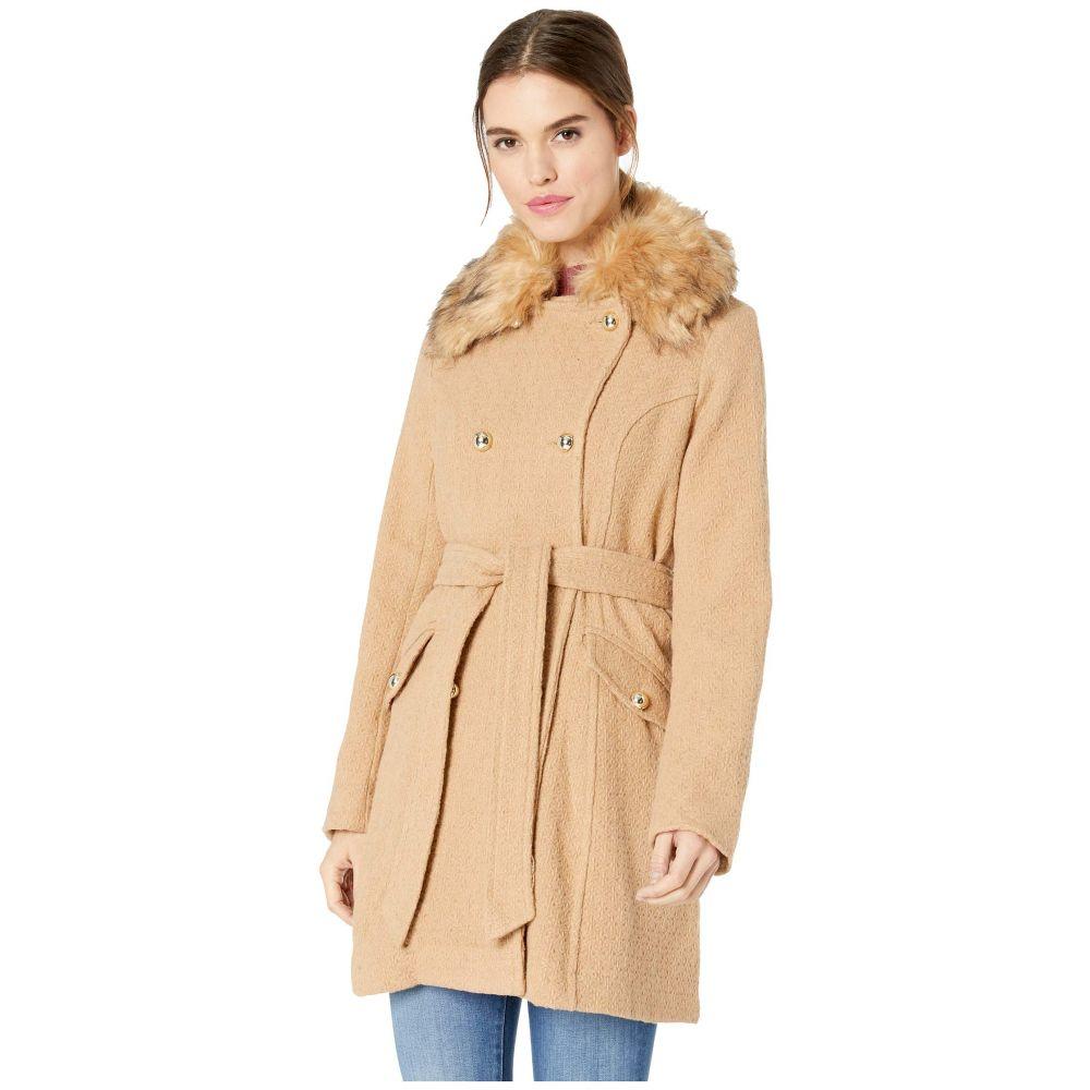 ジェシカシンプソン Jessica Simpson レディース コート アウター【Wool Coat w/ Faux Fur】Camel