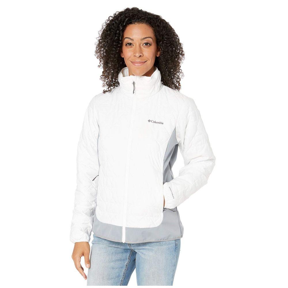 コロンビア Columbia レディース ダウン・中綿ジャケット アウター【Seneca Basin Hybrid Jacket】White/Tradewinds Grey