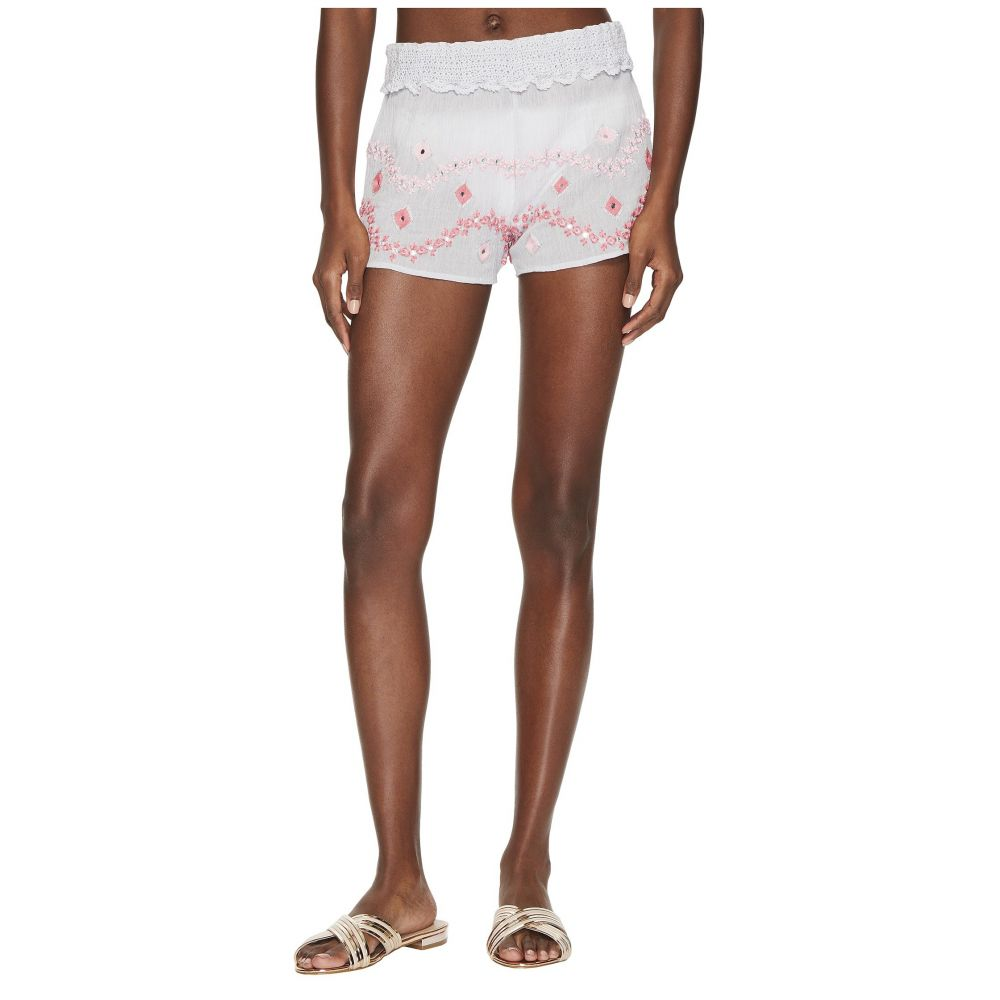 レタルト Letarte レディース ビーチウェア ショートパンツ 水着・ビーチウェア【Embroidered Shorts】Light Grey
