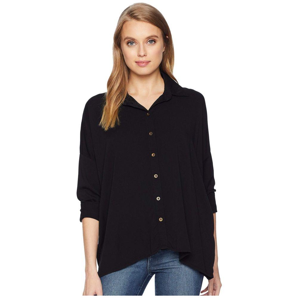 マイケルスターズ Michael Stars レディース ブラウス・シャツ トップス【Rylie Rayon Boxy Button Up Shirt】Black