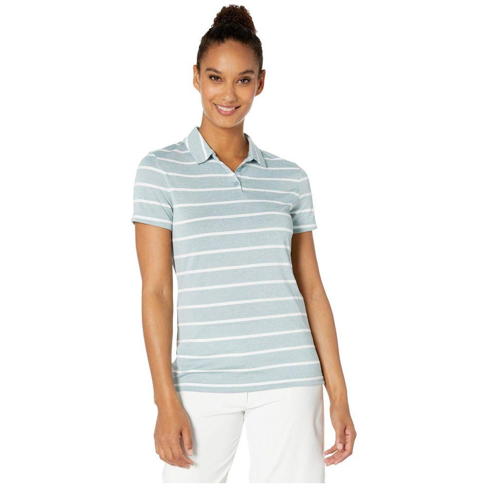 ナイキ Nike Golf レディース ポロシャツ 半袖 トップス【Dry Polo Short Sleeve Stripe】Aviator Grey/White/Aviator Grey