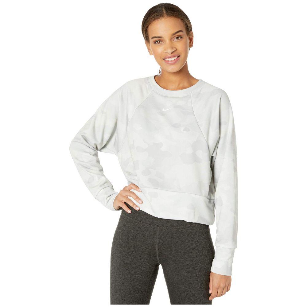 ナイキ Nike レディース フリース トップス【Rebel Dry All-In Fleece Crew Camo】Wolf Grey/White