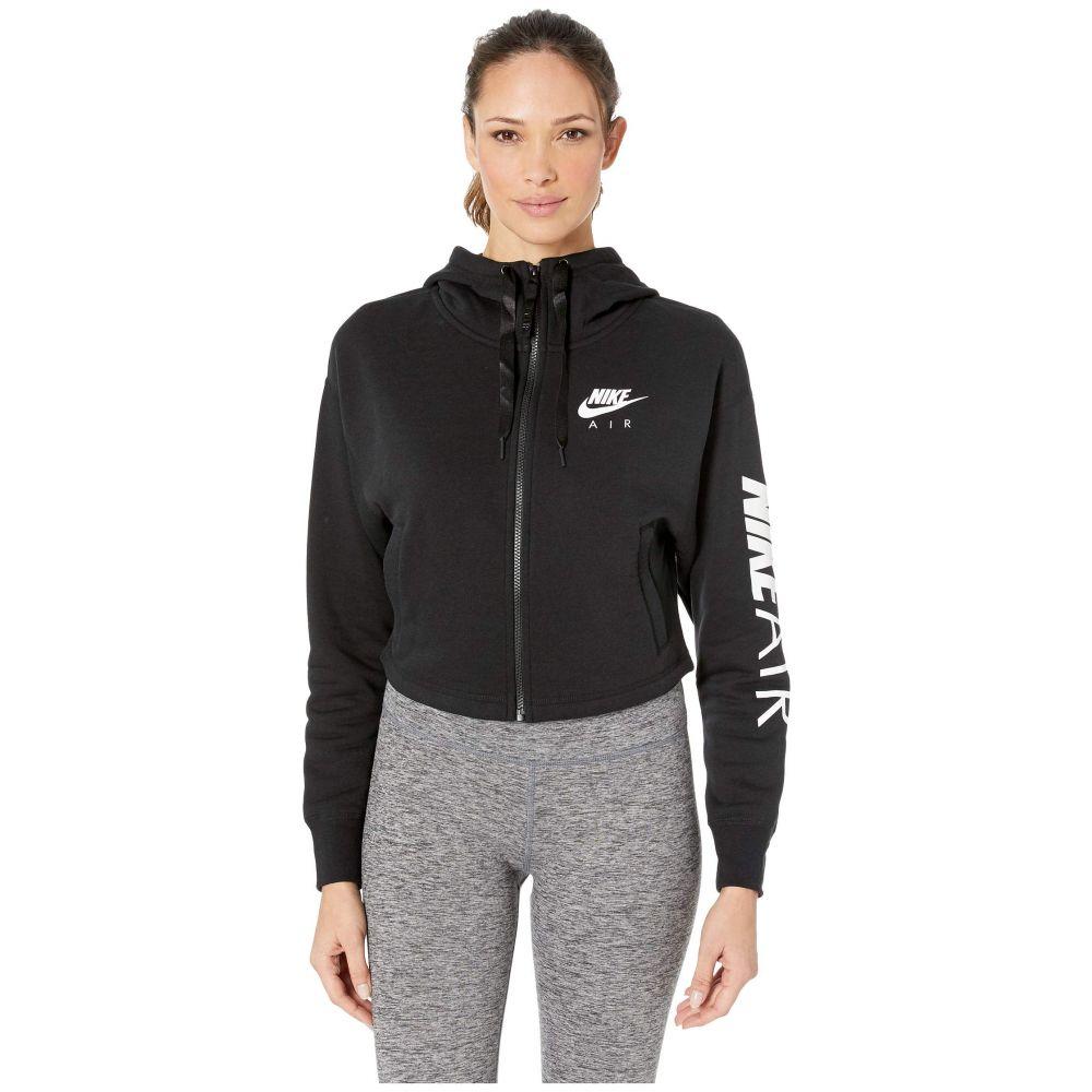 ナイキ Nike レディース フリース トップス【Sportswear Air Hoodie Full Zip Fleece】Black/White