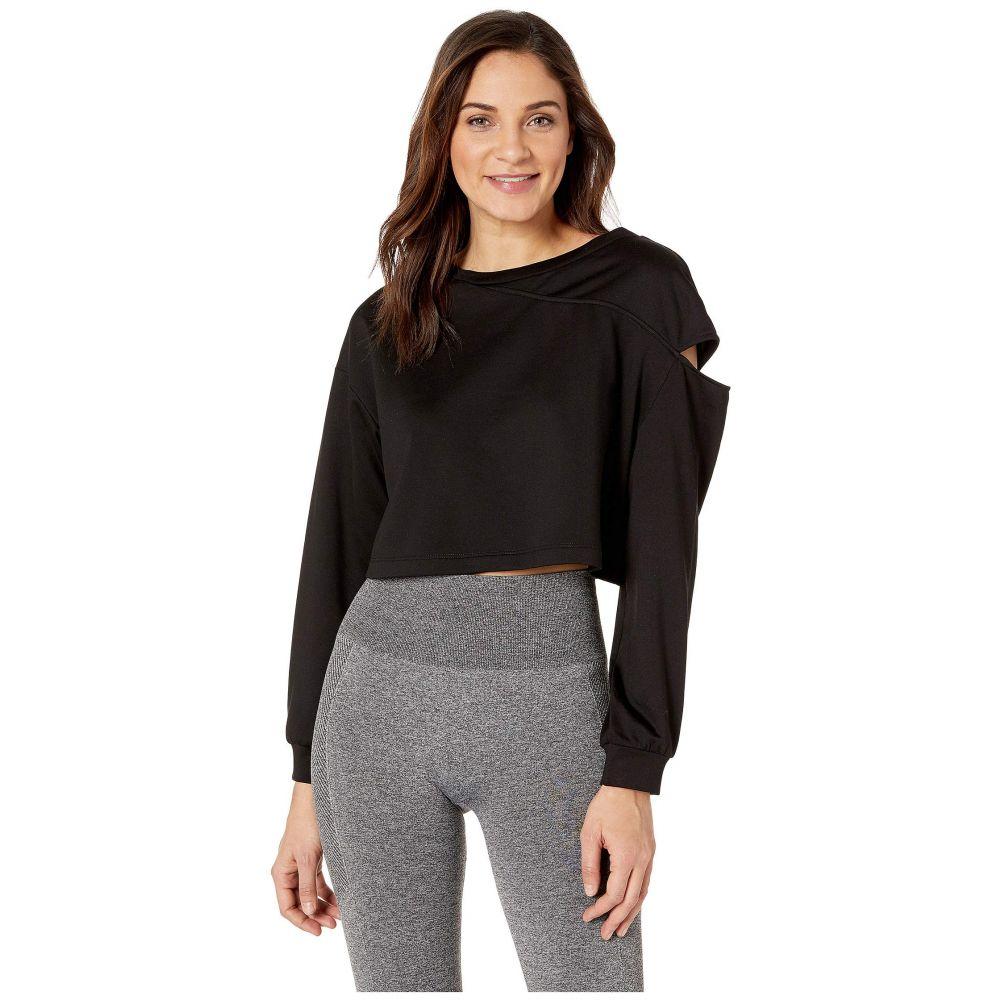 ミチ MICHI レディース スウェット・トレーナー トップス【Fusion Crop Sweatshirt】Black