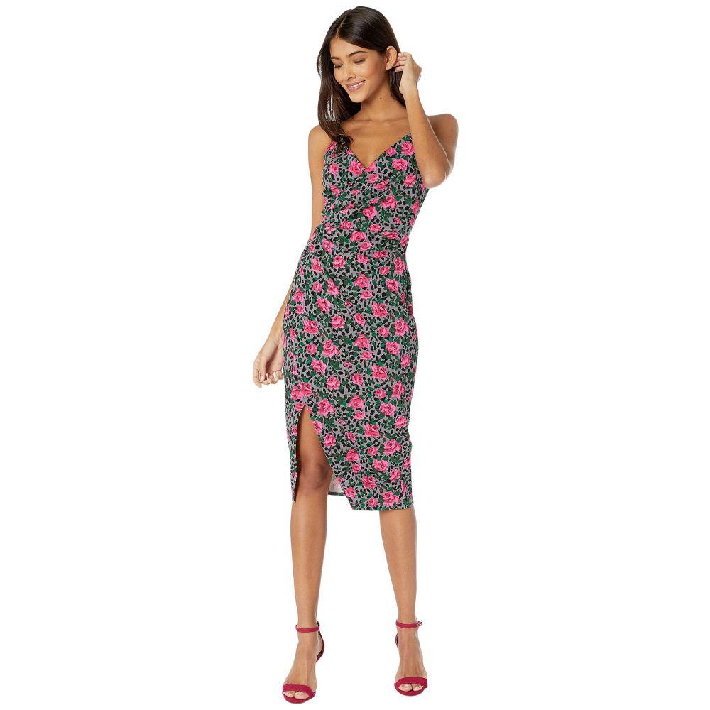 ベッツィ ジョンソン Betsey Johnson レディース ワンピース ラップドレス ワンピース・ドレス【Vintage Rose Cheetah Faux Wrap Dress】Pink Pop Multi