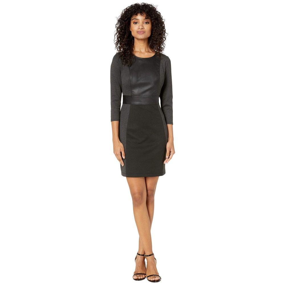 ビーシービージーマックスアズリア BCBGMAXAZRIA レディース ワンピース ワンピース・ドレス【Round Neck Knit Dress】Charcoal Combo