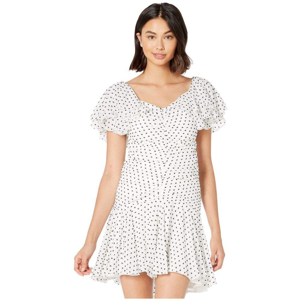 バルドー Bardot レディース ワンピース ワンピース・ドレス【Jessi Rouched Dress】Black/White