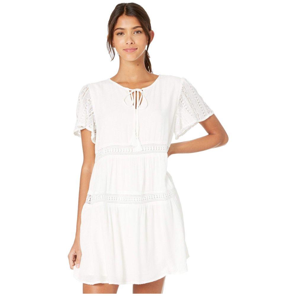 ミス ミー Miss Me レディース ワンピース ミニ丈 ワンピース・ドレス【Mini Dress with Tie Neck】Off-White