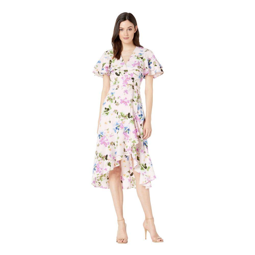 マギーロンドン Maggy London レディース ワンピース ワンピース・ドレス【Scatter Clover Flower Ruffle Print Dress】Rose Quartz/Orchid