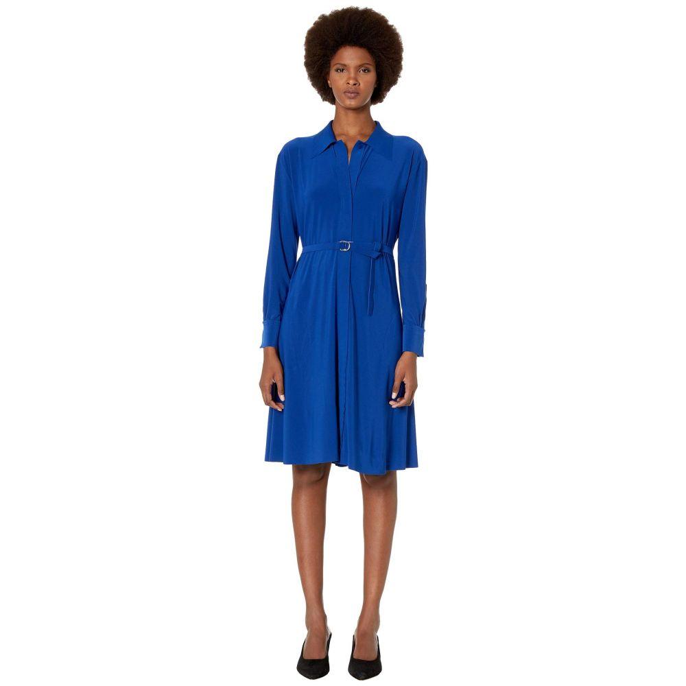 ノーマ カマリ KAMALIKULTURE by Norma Kamali レディース ワンピース ワンピース・ドレス【Norma Kamali Shirt A-Line Dress To Knee】Berry Blue