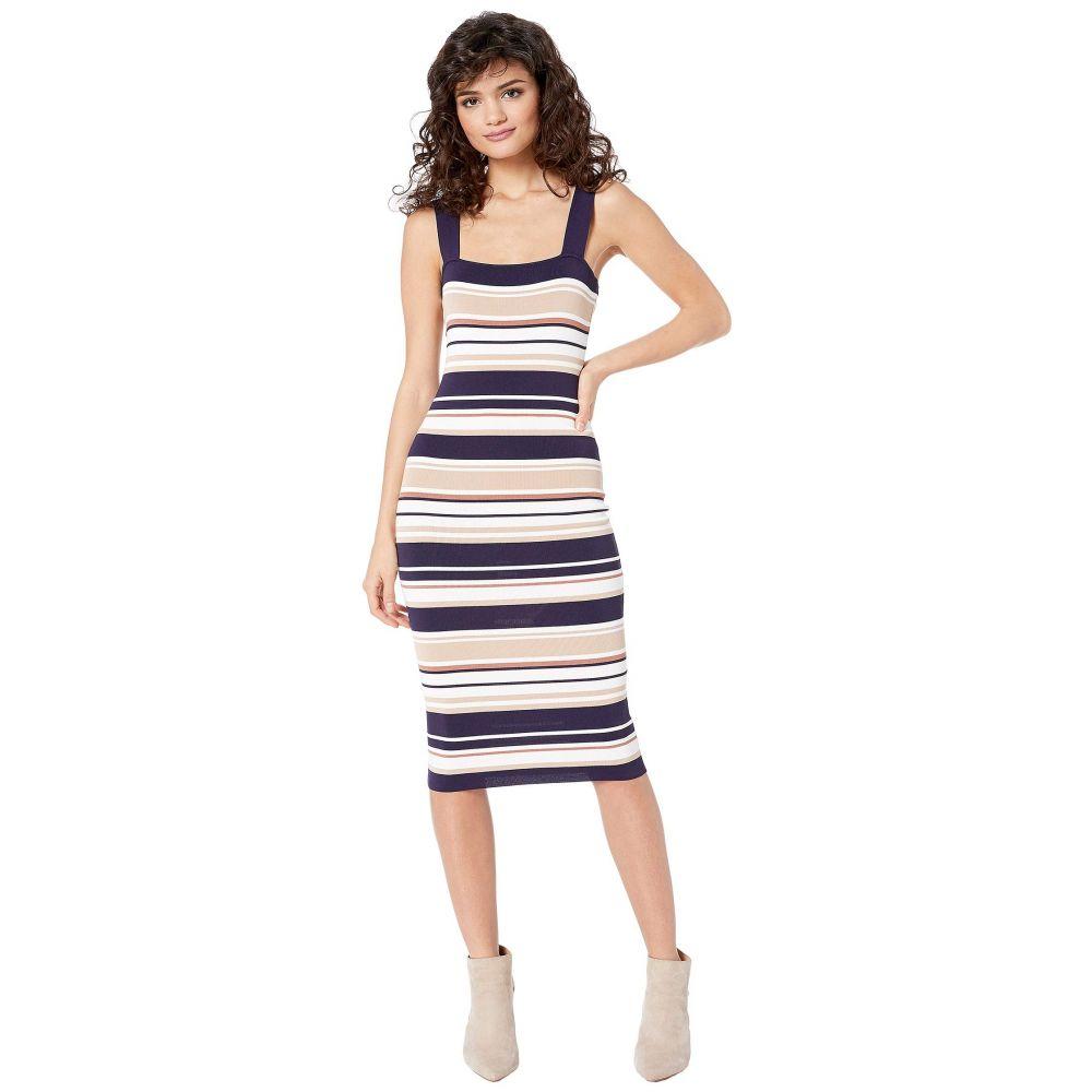 バルドー Bardot レディース ワンピース ワンピース・ドレス【Multi Stripe Dress】Navy/Pebble