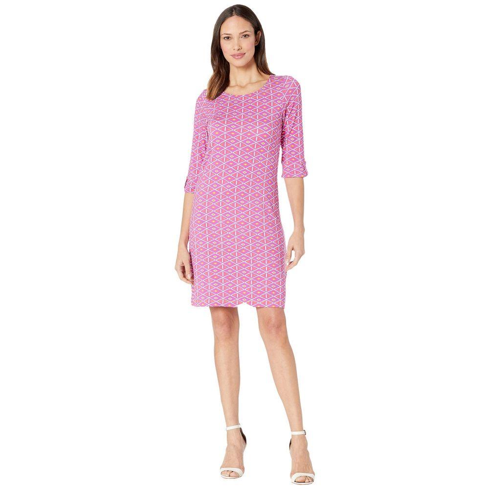 ハットレイ Hatley レディース ワンピース ワンピース・ドレス【Lucy Dress】Triangle Stamps Pink