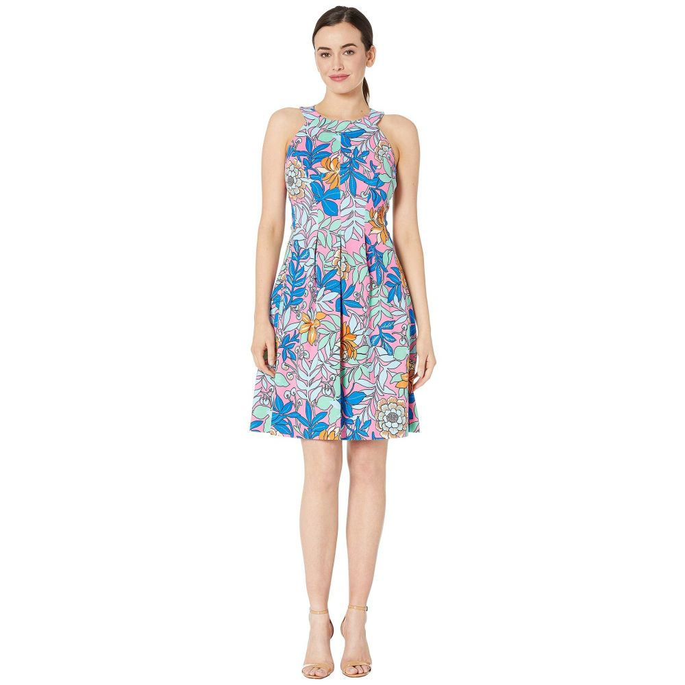 パッパガッロ Pappagallo レディース ワンピース ワンピース・ドレス【The Hayden Dress - Printed Scuba Crepe】Azalea Multi