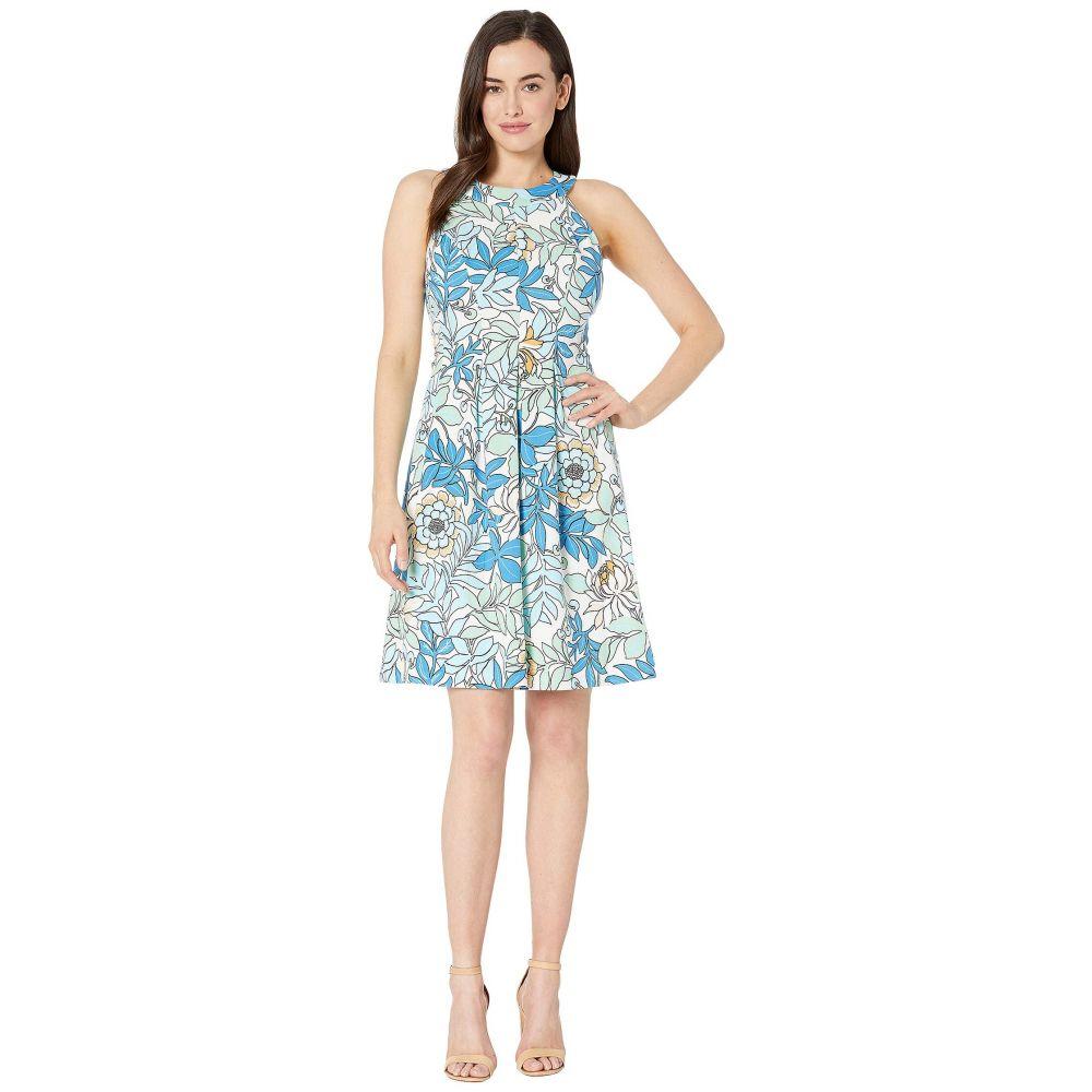 パッパガッロ Pappagallo レディース ワンピース ワンピース・ドレス【The Hayden Dress - Printed Scuba Crepe】Natural White Multi