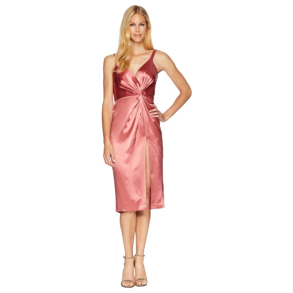 ジル スチュアート JILL JILL STUART レディース パーティードレス カクテルドレス ワンピース・ドレス【Satin Cocktail Dress with Twist Detail】Rosewood