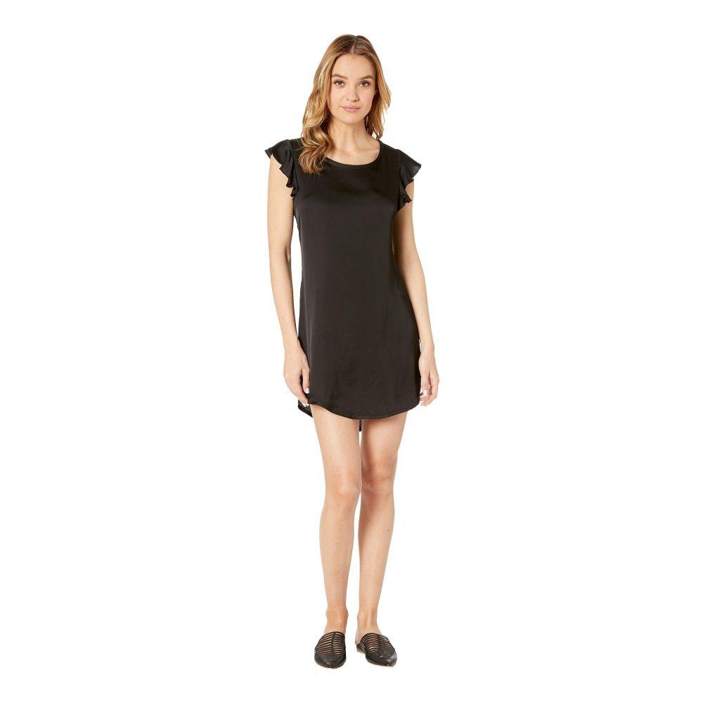 チェイサー Chaser レディース ワンピース ワンピース・ドレス【Silky Flutter Sleeve High-Low Shirttail Dress】True Black
