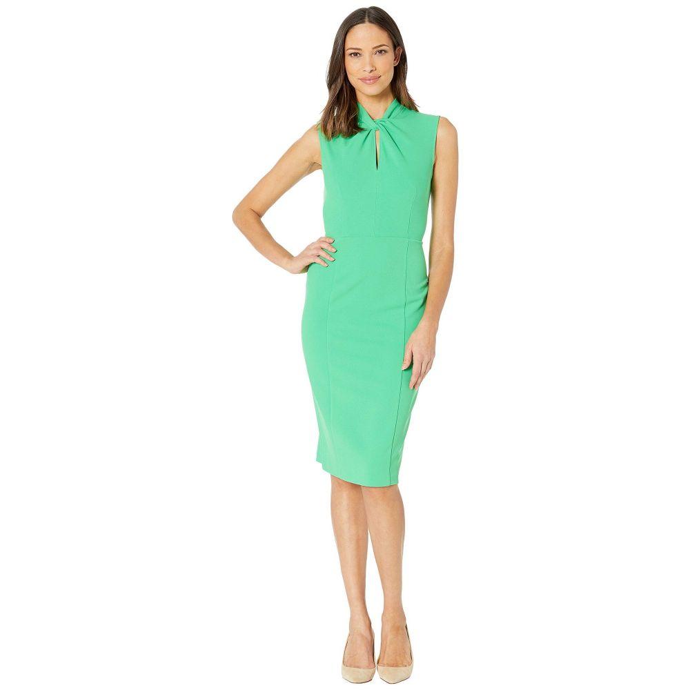 ドナ モルガン Donna Morgan レディース ワンピース ノースリーブ ワンピース・ドレス【Sleeveless Crepe Dress with Tie Knot Front】Green Crush