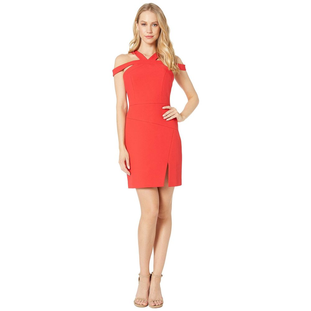 ビーシービージーマックスアズリア BCBGMAXAZRIA レディース パーティードレス イブニングドレス ワンピース・ドレス【Short Woven Evening Dress】Jewel Red