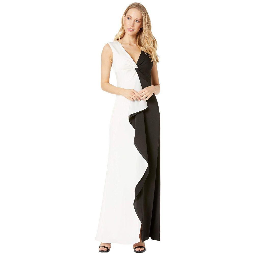 ビーシービージーマックスアズリア BCBGMAXAZRIA レディース パーティードレス イブニングドレス ワンピース・ドレス【Long Woven Evening Dress】Black Combo