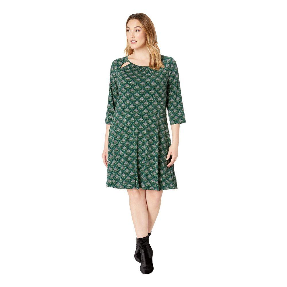 マイケル コース MICHAEL Michael Kors レディース ワンピース 七分袖 大きいサイズ ワンピース・ドレス【Plus Size Chandelier 3/4 Sleeve Dress】Dark Emerald