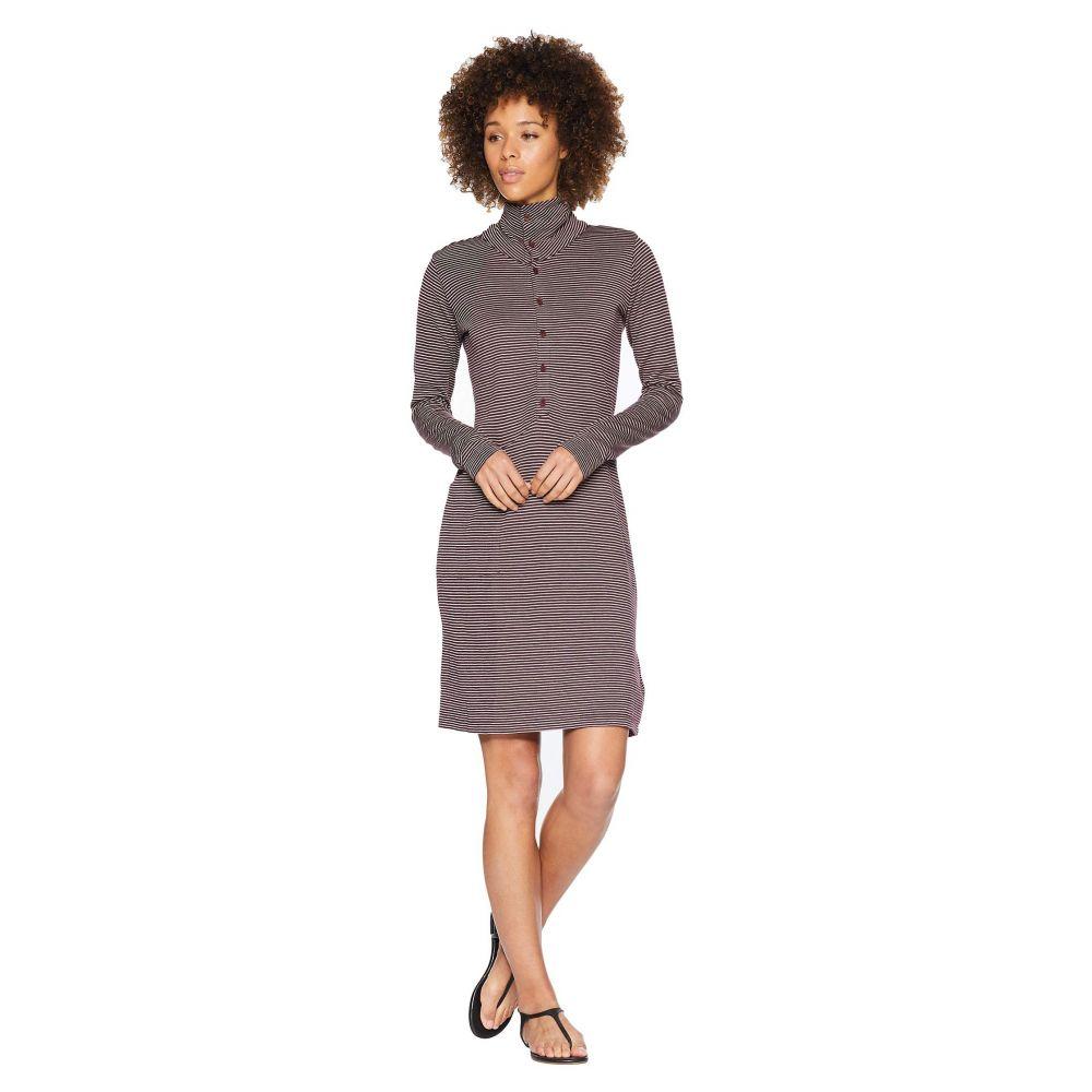 ナウ NAU レディース ワンピース ワンピース・ドレス【Long Sleeve Kanab HW Dress】Plum Stripe