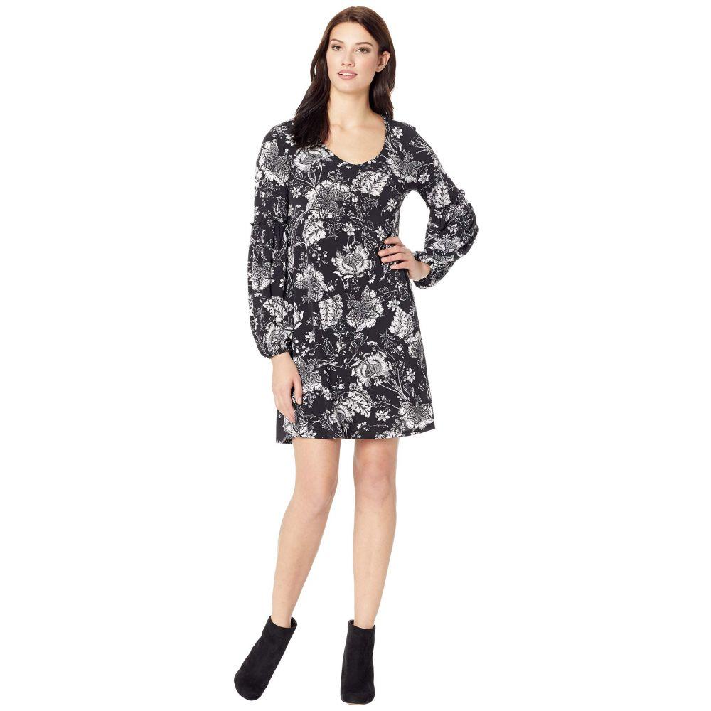 カレンケーン Karen Kane レディース ワンピース ワンピース・ドレス【Smocked Sleeve Dress】Black/White