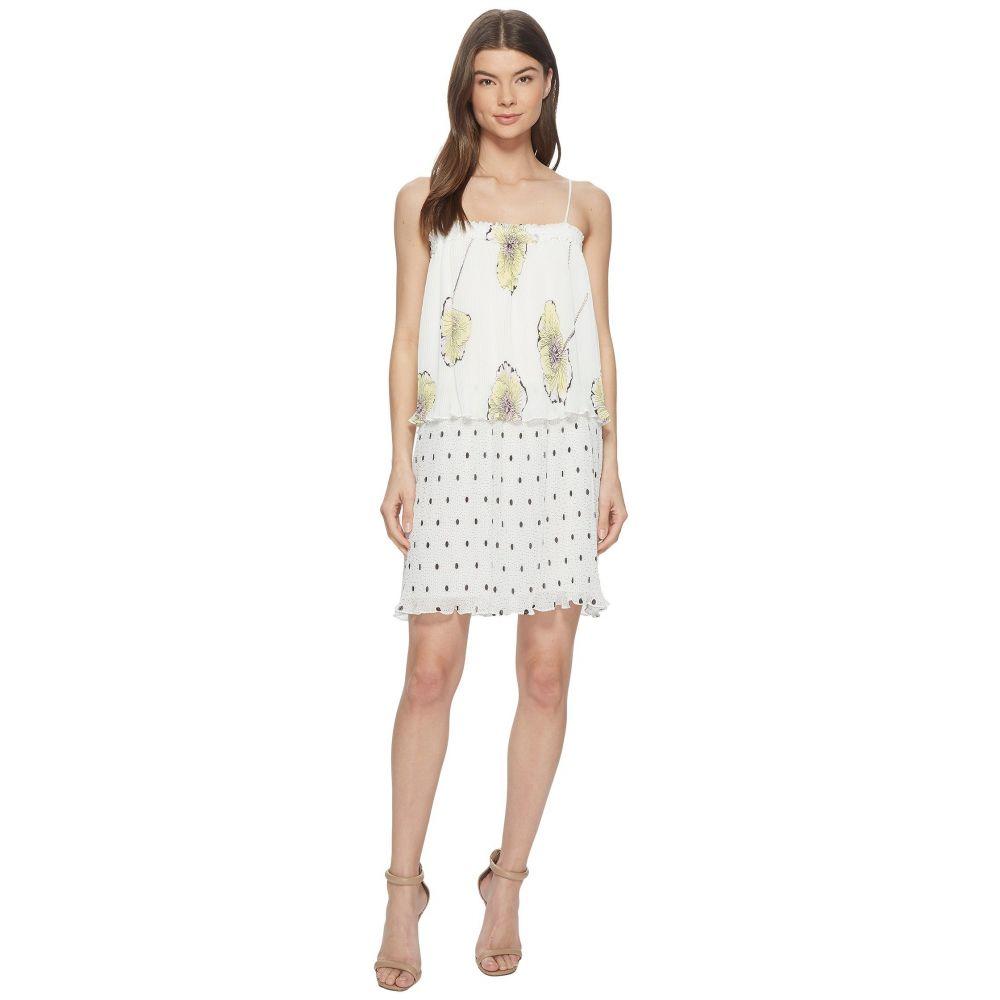 ワンステート 1.STATE レディース ワンピース スリップドレス ワンピース・ドレス【Mixed Print Pleated Slip Dress】New Ivory