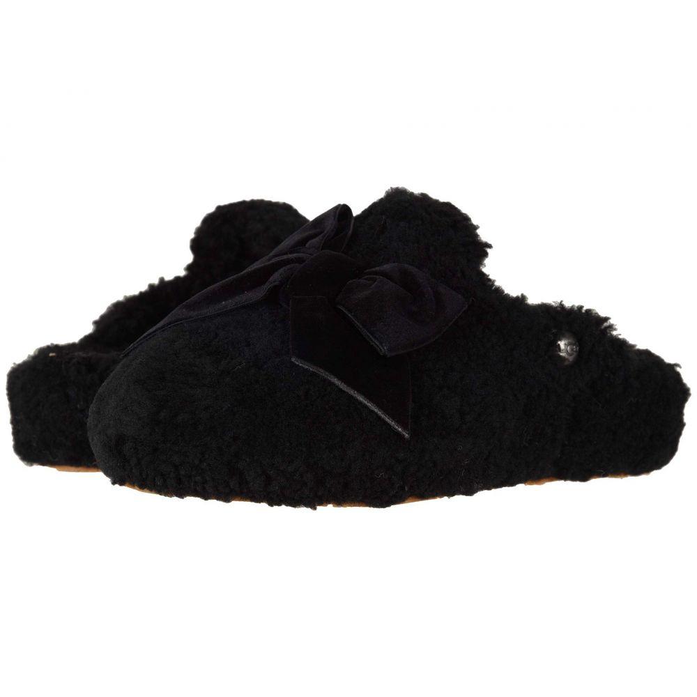 アグ UGG レディース スリッパ シューズ・靴【Addison Velvet Bow Slipper】Black