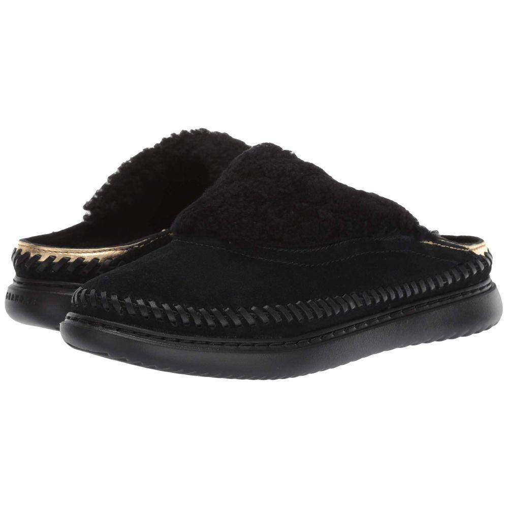 コールハーン Cole Haan レディース スリッパ シューズ・靴【2.ZeroGrand Convertible Slip-On】Black Suede/Ch Gold Metallic Leather/Black Shearling/Black